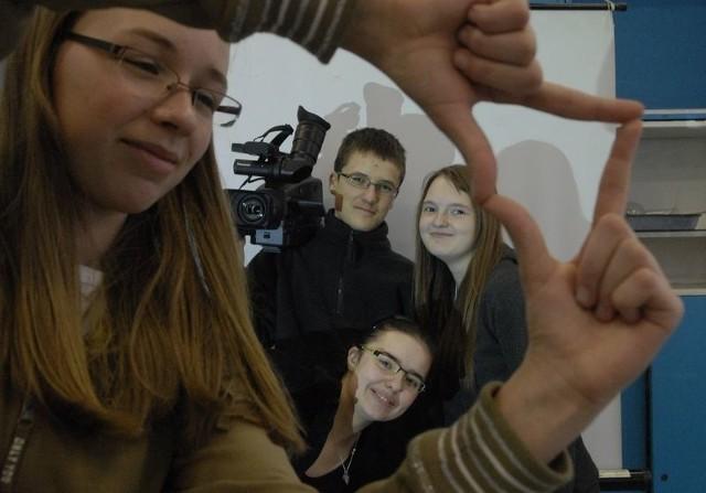 Czwórka utalentowanych ekologów-filmowców ze Słupska: Anna Jakubiak, Rafał Białek, Karolina Chmielowiec i Katarzyna Strzelecka