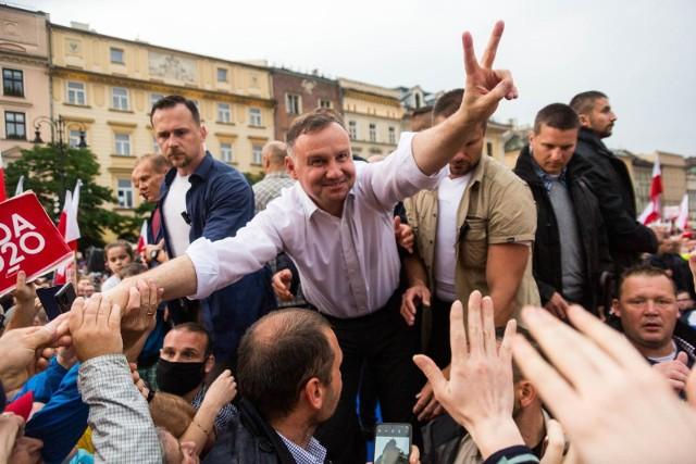 Andrzej Duda w Krakowie przed I turą wyborów