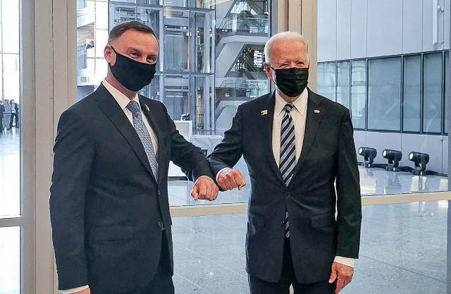 Prezydenci Polski Andrzej Duda i USA Joe Biden