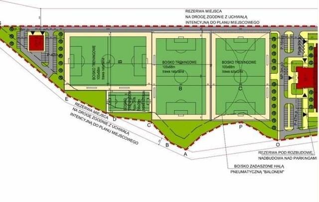 Na Krywlanach ma powstać pięć boisk pełnowymiarowych i jedno wielkości orlika