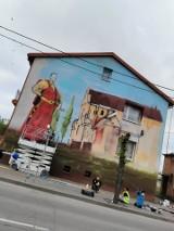 Szczuczyn. Trzy murale będą zdobić miasto. Pierwszy już prawie gotowy [zdjęcia]