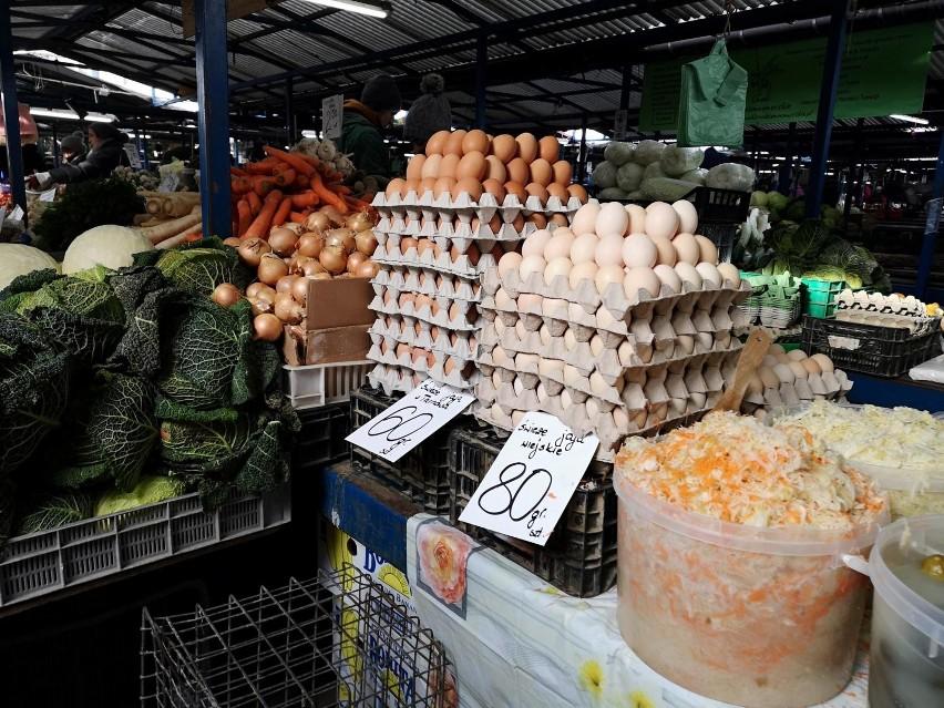 Cena jaj na wybranych targowiskach w Kujawsko-Pomorskiem w...