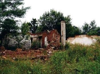 Zachowane fragmenty budowli wymagają zabezpieczenia Fot. Janusz Szegda