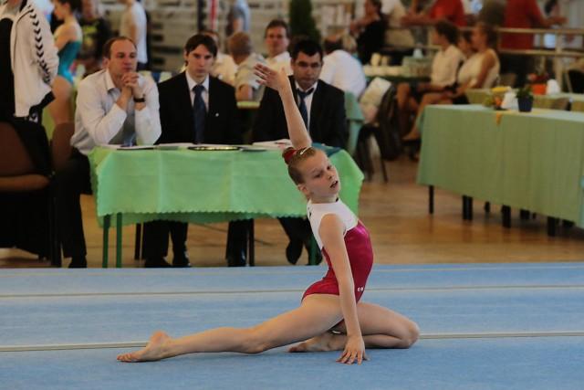 Natalia Bukowska, 13-letnia gimnastyczka Kusego Szczecin.