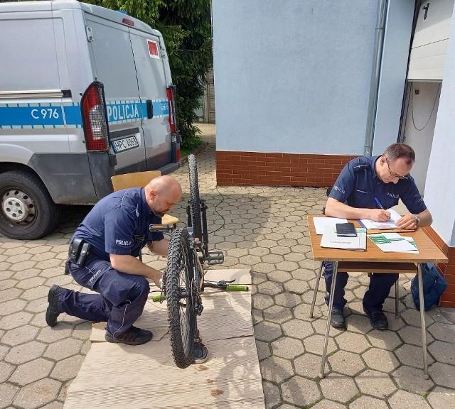 Akcje znakowania rowerów przeprowadzono w czerwcu w Nakle i Szubinie. Ale będą kolejne