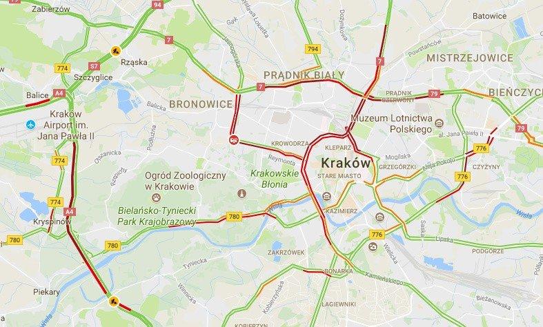 Krakow Stanal W Korkach Mapa Gazeta Krakowska