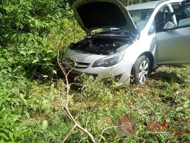 Wypadek na trasie Łyse - Łomża, 05.07.2019