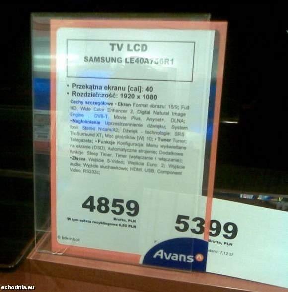 Na zdjęciu zrobionym przez czytelnika widać, że pod kartką z nową, promocyjną ceną, była stara cena, zdecydowanie niższa od nowej.