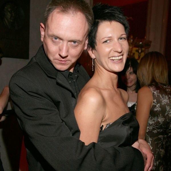 Paweł Burczyk z żoną  Olimpią Poniźnik.