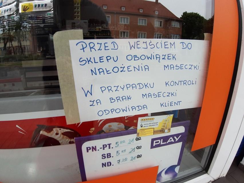 Komunikat dla klientów w jednym ze szczecineckich sklepów.