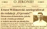 O jeronie, historia: Czy Wilimowski ubliżał legionistom po niemiecku? [TYGODNIK POSTBRUKOWY]