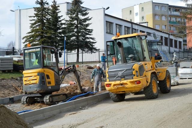 Remont ulicy Pochyłej w Bytowie.
