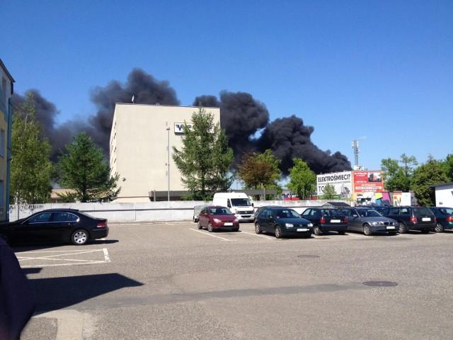 Pożar przy ul. Pomorskiej w Szczecinie