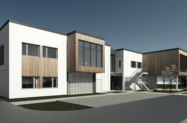 Tak ma wyglądać Powiatowe Centrum Wsparcia Społecznego budowane przy ul. Niepołomskiej w Wieliczce. Kompleks ma być gotowy w połowie tego roku