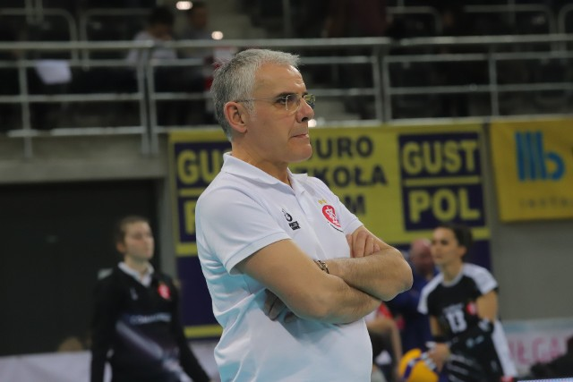 Trener ŁKS Commercecon Giuseppe Cuccarini