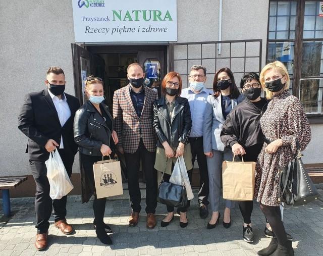 Delegacja Urzędu Miejskiego w Szydłowcu z wizytą w Kozienicach.