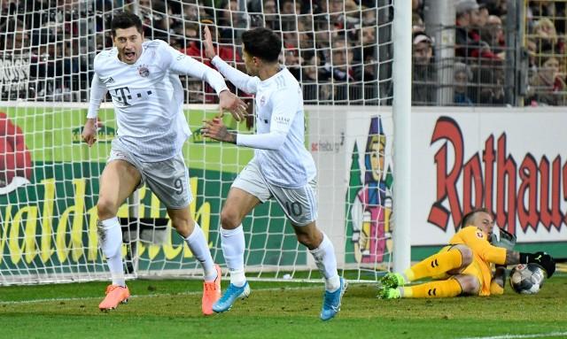 Robert Lewandowski zdobył bramkę w wyjazdowym meczu z SC Freiburg