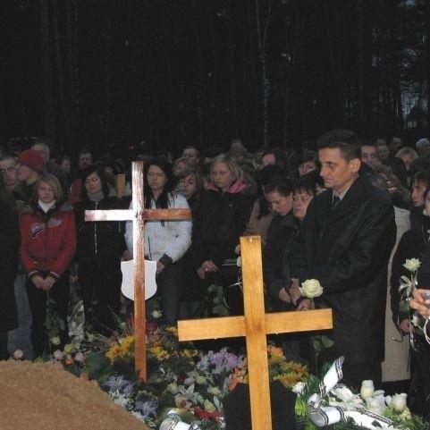 Pogrzeb 17-latek, które zginely w  wypadku pod Augustowem