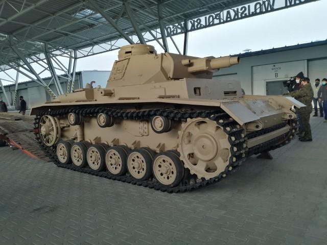 Panzer III już w muzeum w Poznaniu - wygląda jak nowy