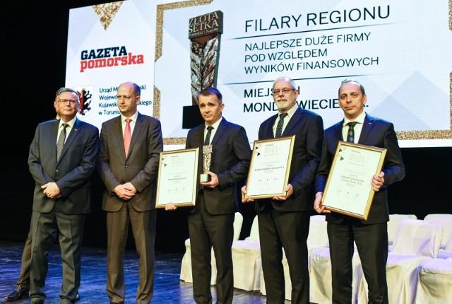 Złota Setka Pomorza i Kujaw 2017 - Filary Regionu - najlepsze duże firmy pod względem wyników finansowych