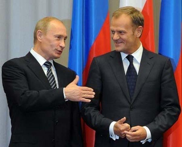 Władimir Putin i Donald Tusk na spotkaniu w Sopocie.