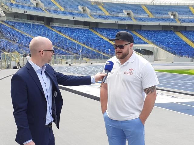 Czterokrotny mistrz świata w rzucie młotem Paweł Fajdek został ambasadorem województwa śląskiego i Stadionu Śląskiego