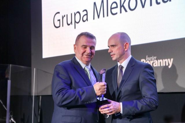 SM Mlekovita jest liderem Podlaskiej Złotej Setki Przedsiębiorstw Kuriera Porannego. Także za rok 2016.