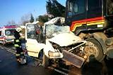 W miejscowości Bircza w pow. przemyskim bus zderzył się z TIR-em. 2 ofiary śmiertelne