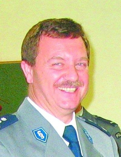 Inspektor Piotr Rudnicki, komendant powiatowy Policji w Hajnówce, po 26 latach służby przechodzi na emeryturę