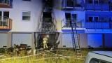 Nocne pożary na ul. Piotrkowskiej w Gdańsku (10.08.2021 r.). Dwie osoby potrzebowały pomocy, jedna z nich trafiła do szpitala