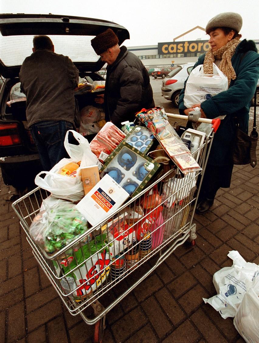 Zakupy w hipermarketach 20 lat temu