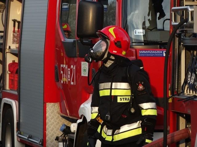 Pożar w Rudzie Śląskiej przy ul. Plebiscytowej