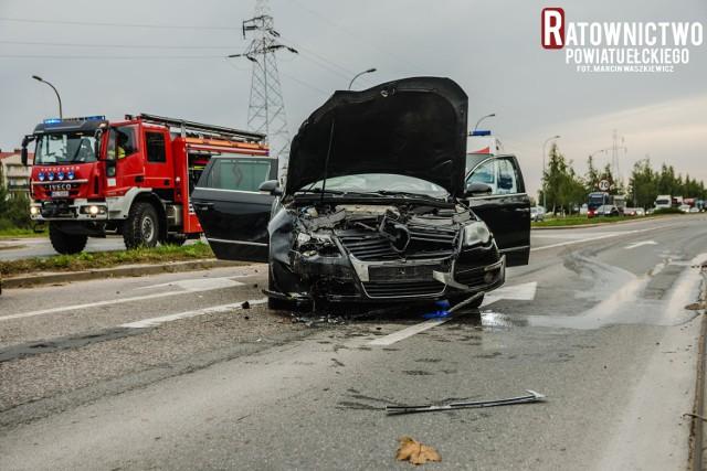 Wypadek w Ełku