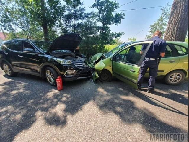 Wypadek w Dąbrówce Dolnej.