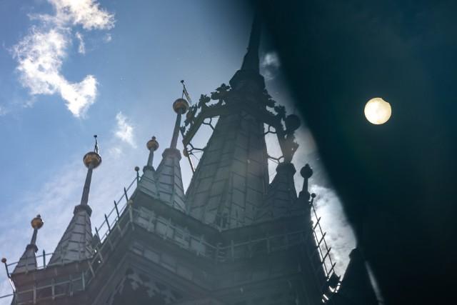 Częściowe zaćmienie słońca 10 czerwca nad Krakowem [ZDJĘCIA]