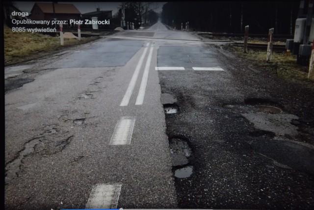 Katastrofalny stan drogi 201 w Gminie Czarne