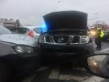 Wypadek na Krzywoustego. Zderzyły się cztery samochody