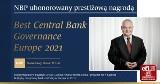 Narodowy Bank Polski - najlepiej zarządzany bank centralny w Europie w 2021 roku