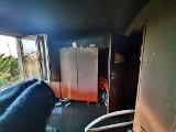 Pożar mieszkania w Lucimiu. Tak lokal wyglądał po zakończeniu akcji gaśniczej [zdjęcia]