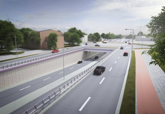 Wizualizacja tunelu pod ulicą Gdańską w ramach trasy WZ w Bydgoszczy