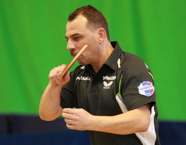 Krzysztof Piński zdobył 2,5 pkt dla lęborczan.