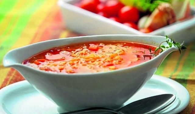 Zupa z soczewicy, pomidorów i limonki  według przepisu  Jacka Borkowskiego