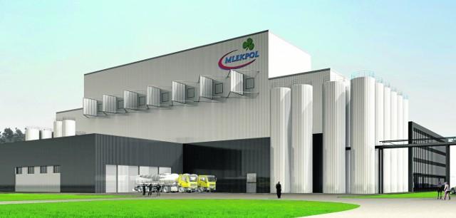Proszkownia w Mrągowie, której budowę rozpoczyna SM Mlekpol będzie mogła przerobić 3 mln litrów mleka i serwatki na dobę.