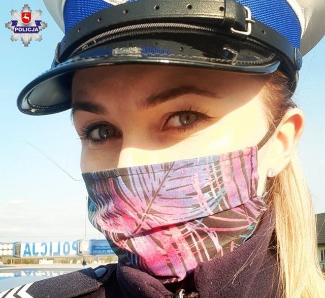 Bialska policjantka, sierż. szt. Izabela Zazula dba nie tylko o bezpieczeństwo na drogach, ale też o zdrowie mieszkańców miasta