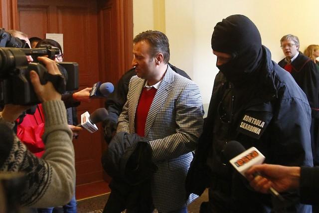 Prokurator Artur Maludy (z prawej w głębi) podczas posiedzenia aresztowego Pawła Golemy. Marzec 2013.
