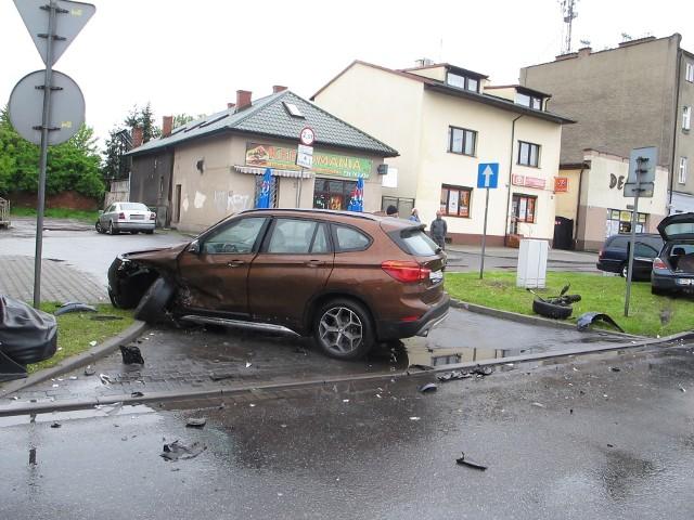 Zdarzenie drogowe na ul. Powstańców Śląskich.