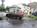 Oświęcim. Zderzenie dwóch pojazdów na ul. Powstańców Śląskich. Jedna osoba poszkodowana