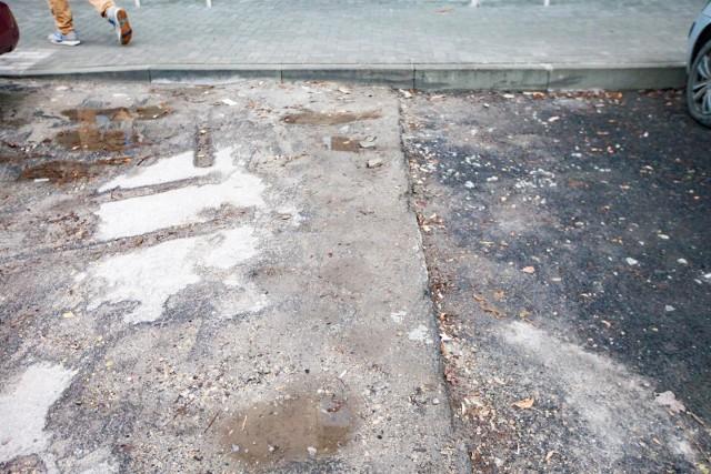 Dziurawe ulice w Nowej Hucie