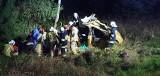 Zalesie. Wypadek na DK65. Pijana kobieta dachowała osobówką (zdjęcia)