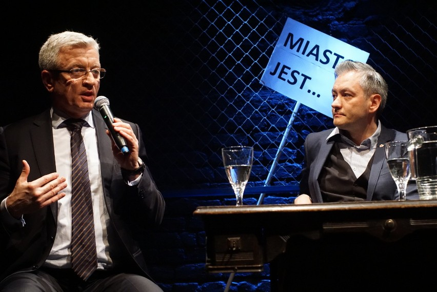 Jacek Jaśkowiak i Robert Biedroń spotkali się z poznaniakami
